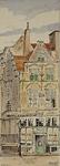 XXV-260 Gezicht op het huis In duizen vreezen aan de Grote Markt, uit het oosten.