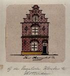 XXV-289-1 Voorgevel van een huis aan de noordzijde van het Haringvliet, op de hoek van de Hooimarkt, bij de Engelse ...