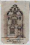 XXV-289-2 Voorgevel van een huis aan de noordzijde van het Haringvliet, op de hoek van de Hooimarkt, bij de Engelse ...