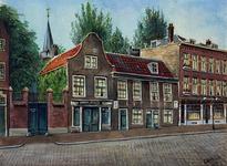 XXV-30-01 Huizen aan de Baan met links de ingang naar de Waalse Kerk.