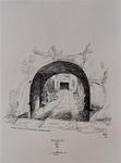 XXV-30-02 Poort in de Baan met doorgang naar de Schiedamsedijk , uit het westen.