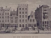 XXV-331 Gezicht op het huis Engelenburg in de Hoogstraat, uit het noorden.