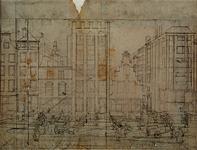 XXV-332 Gezicht op het huis Engelenburg aan de de Hoogstraat.(schets vóór catalogusnummer: RI 1186)