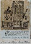 XXV-333-2 Detail van het huis Engelenburg in 1770 op de Hoogstraat.2 tekeningen op één karton: XXV 333-1 en -2