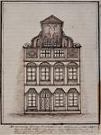 XXV-338-2 Voorgevel van het voormalig Schielandshuis vóór 1668 op de Hoogstraat.
