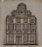 XXV-338-3 Voorgevel van het voormalig Schielandshuis op de Hoogstraat.2 tekeningen op één karton: XXV 338-1, -2.