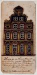 XXV-338-4 Voorgevel van het voormalig Schielandshuis op de Hoogstraat.2 tekeningen op één karton: XXV 338-3, -4.