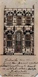 XXV-339 Gedeelte van een gevel van een pand op de Hoogstraat.3 tekeningen op één karton: XXV 339, XXV 340 en XXV 454