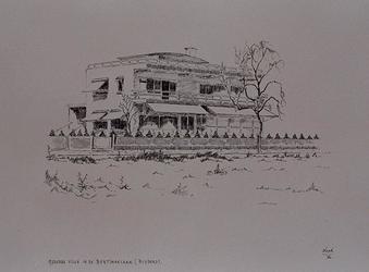 XXV-34-03 Gezicht op een villa in de Bentincklaan.
