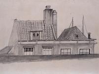 XXV-351-3 Gezicht op de achterzijde van huizen aan de Houtlaan.