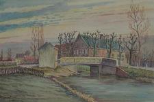 XXV-373-06 Boerderij Bouwlust aan de Overschiese Kleiweg, halverwege Schiebroek en Overschie, uit het noordwesten.