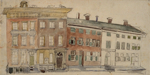 XXV-376 Gezicht op de Vrouwengesticht van Weldadigheid, het Schielandshuis en het Huis van Arrest aan de Korte Hoogstraat.