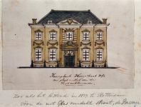XXV-377-1 Voorgevel van een huis in de Korte Hoogstraat.3 tekeningen op één karton: XXV 377-1, -2,-3