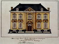 XXV-377-4 Voorgevel van een huis in de Korte Hoogstraat.