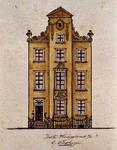 XXV-378-1 Voorgevel van een huis in de Korte Hoogstraat (huis van Aert van Nesstraat). 3e vanaf het Steiger.2 ...