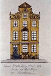 XXV-378-2 Voorgevel van een huis in de Korte Hoogstraat (huis van Aert van Nesstraat). 3e vanaf het Steiger.2 ...