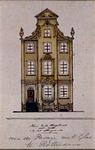 XXV-378-3 Voorgevel van een huis in de Korte Hoogstraat (huis van Aert van Nesstraat). 3e vanaf het Steiger.