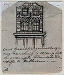 XXV-406 Voorgevel van een huis in de Sint Laurensstraat.4 tekeningen op één karton: XXV 406, XXV 409, XXV 575 en XXV 616.