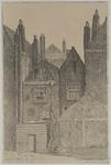 XXV-410-01 Leeuwenlaan, achterzijde huizen tussen Nieuwsteeg en Rodezand.