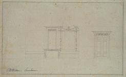 XXV-413 Beeldhouwwerk boven de deur en langs de kozijnen van een huis aan de Leuvehaven.