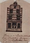 XXV-435-2 Voorgevel van het huis, de Gouden Voet in de Lombardstraat nummer 72.2 tekeningen op één karton: XXV 435-1 en -2.
