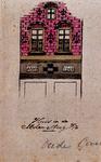 XXV-454 Gedeelte van een gevel van een huis op de Molensteeg.3 tekeningen op één karton: XXV 339, XXV 340 en XXV 454