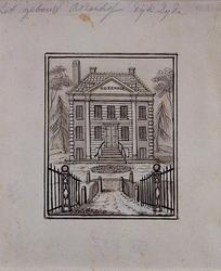 XXV-457-1 De buitenplaats Rozenhof aan de Nesserdijk.