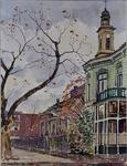XXV-514-05 Gezicht op de huizen aan de Oudedijk tussen de Waterloostraat en de Hoflaan.