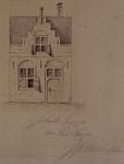 XXV-527-1 Voorgevel van een huis in de Piet Heynstraat (geboortehuis van Piet Heyn).