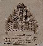XXV-538 Gedeelte van een oude gevel in Prinsenstraat noordzijde.