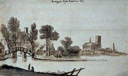 XXV-560 Buitenplaats Crooswijk aan de Rotte. Krooswijck buyten Rotterdam