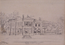 XXV-614 Landhuis Pieter van Oordt aan de Schoutenlaan.