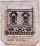 XXV-616 Gedeelte van de voorgevel van een huis aan de westzijde van de Schrijnwerkerssteeg nummer 11.4 tekeningen op ...