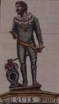 XXV-625 Beeld van Spinola aan het huis Spaansekade nummer 1.