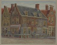 XXV-764-00-01 Huizen aan de Wijde Nieuwsteeg, uit het zuidwesten.