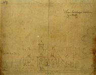 XXV-794 De woning van de bisschop aan de Schiekade.