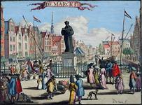 XXVI-1 Gezicht op het standbeeld Erasmus aan de Grotemarkt.