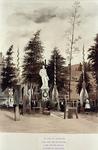 XXVI-17-00-02-1 Gezicht op het tijdelijke standbeeld van de koning Willem III op de Grote Markt.
