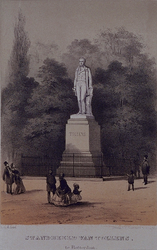XXVI-22 Gezicht op het standbeeld van H. Tollens bij het Park.