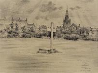 XXVI-55 Het gedenkteken Voor hen, die vielen in het gazon aan de Graswinckelstraat in voormalig Overschie.