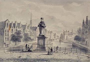 XXVI-6 Standbeeld van Erasmus uit het westen gezien.