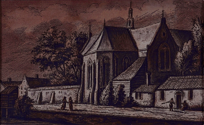 XXXI-102-1 De kerk aan de achterzijde, het Achterwater.