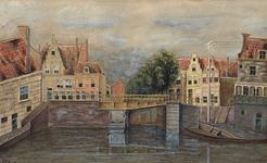 XXXI-115 Gezicht op de Delfshavense Schie met de Aelbrechtsbrug.