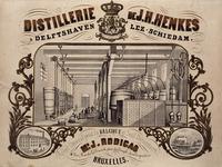 XXXI-118-2 Interieur distilleerderij J.H. Henkes aan de Voorhaven westzijde.