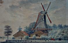 XXXI-121 Gezicht op de houtzaagmolen De Francois aan de Nieuwe Maas.