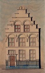 XXXI-126-2 Voorgevel van een huis aan de Aelbrechtskolk nummer 57.