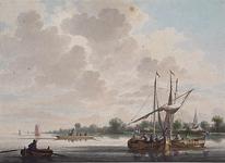 XXXI-139 Een Maasgezicht bij Delfshaven.t Dorp Schoonderloo aan de Maas