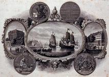 XXXI-140-03 Het vertrek van de Pilgrim Fathers uit Delfshaven.