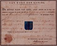 XXXI-140-04-1 Wapendiploma van de Gemeente Delfshaven uitgegeven door de Hoge Raad van Adel.