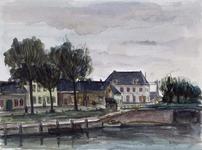 XXXI-140-23-01-02-08-01-1 Buurtschap Nieuwesluis ter weerszijden van het Kanaal door Voorne. Gezien naar Bernisse.